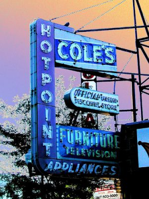coles neon sign by pixeljones