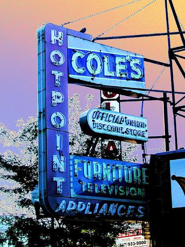 coles neon sign by pixeljones
