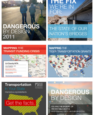 interactive features on Transportation for America