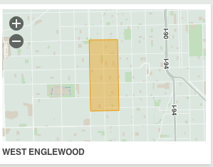 map of Englewood neighborhood chicago