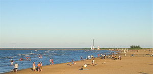 Montrose Avenue Beach, Chicago, Illinois.