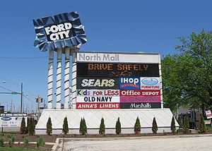 Ford City Mall Sign Chicago, IL USA