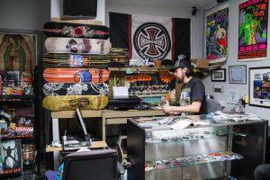 Jamie Duran at his Skate Shop in Little Village.