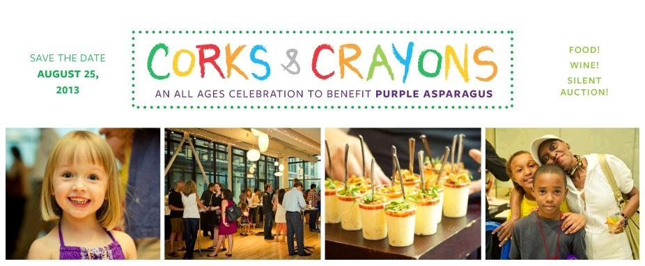 "Purple Asparagus 9th Annual ""Corks and Crayons"" Benefit"