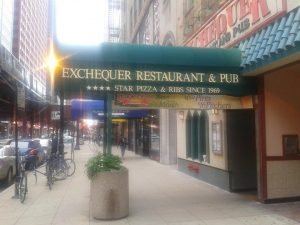 Exchequer, located at 226 S. Wabash Ave.