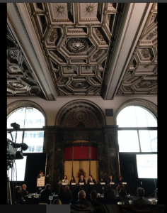 A Panel discussion takes place at the Donors Forum non profit summit at chicago cultural center on Wednesday, Nov. 20, 2013.