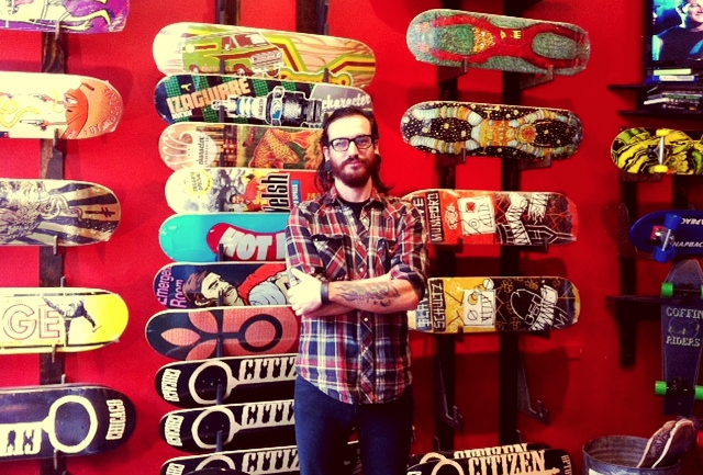 Rich Troche, co-owner of Citizen Skate Cafe
