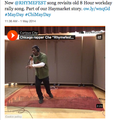 Che Rhymefest Smith Raps for Workers and May Day 2014