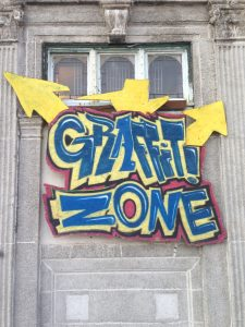 Graffiti Zone allows children and teens to create art in a variety of mediums.