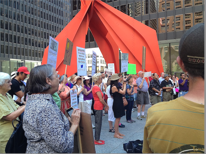Federal Plaza Rally Calls for No Money in Politics