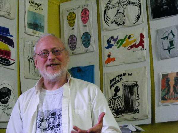 Chris Drew in his studio. Photo credit: Patrick Boylan