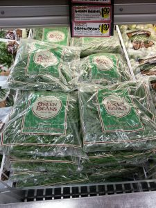 Trader Joe's in the South Loop sells green beans, an obvious ingredient in green bean casserole. (Photo by Paola Martell)