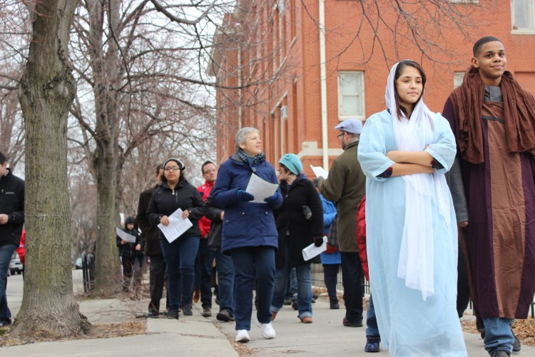 Logan Square Community Groups Use Biblical Procession to Protest Chicago Housing Authority