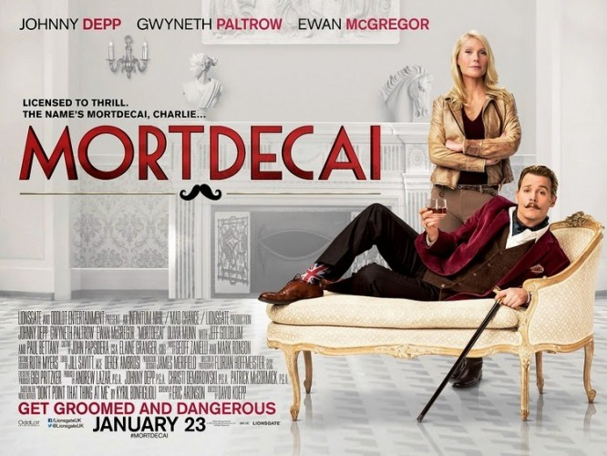 Film Review: Mortdecai – Not the High Point of Johnny Depp's Career