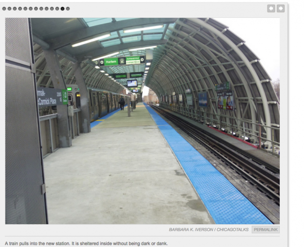 First Look at Cermak-McCormick Place Green Line Stop