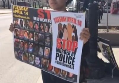 #ShutdownA14 Chicagoans Protest