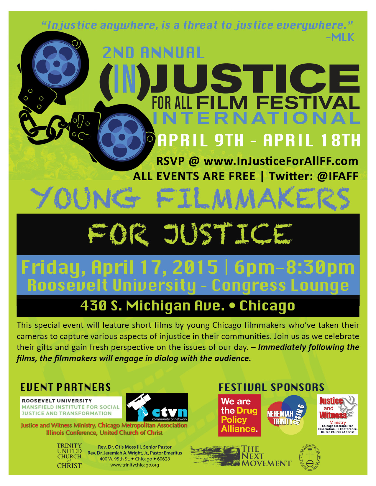 Young Filmmakers Look at (In)Justice at Upcoming Film Festival